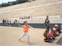 The 14th Primary School of Chalandri, the 13th Primary School of Ampelokipi Thessalonikis and the 10th Primary School of Maroussi at Panathenaic Stadium