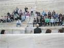 The group of Horizon Travel participated in a sport activity event at Panathenaic Stadium