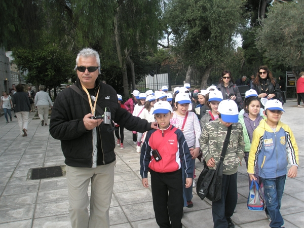 The 31st Primary School of Peristeri starting their audio tour
